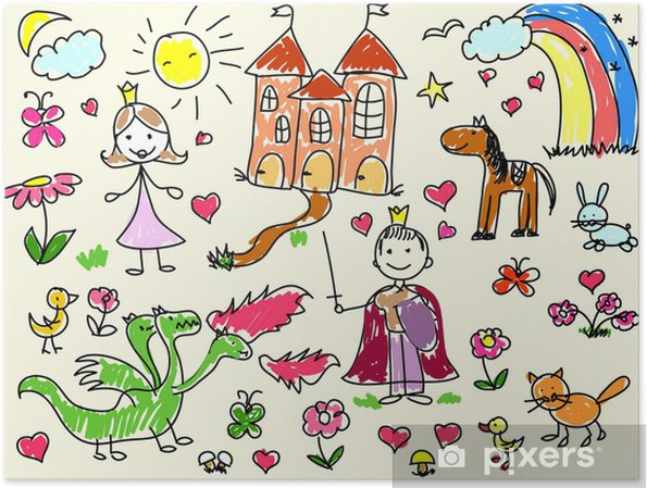 Plakat Rysunki Dzieci