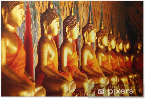 Plakat Rząd złoty posąg Buddy - Tematy