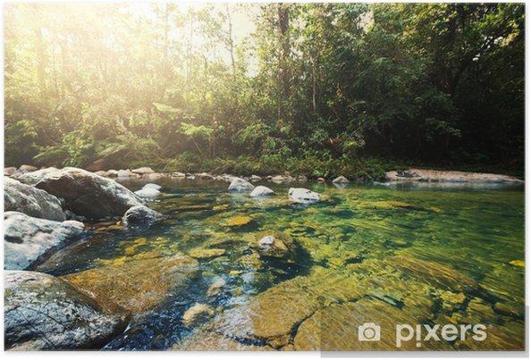 Plakat Rzeka tropikalnych - Woda