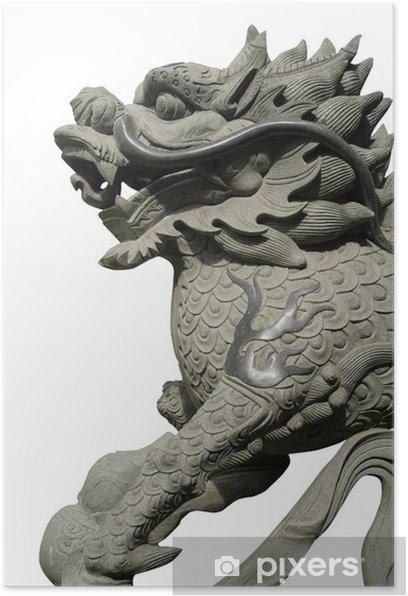 Plakat Rzeźbione orientalny smok - Religie