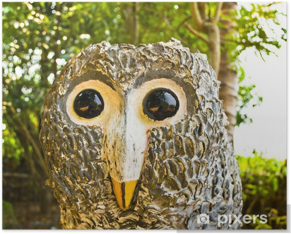 Plakat Rzeźby ptaków. - Azja