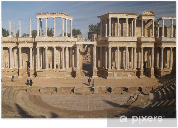 Plakat Rzymskie ruiny w Merida, Hiszpania - Miasta europejskie
