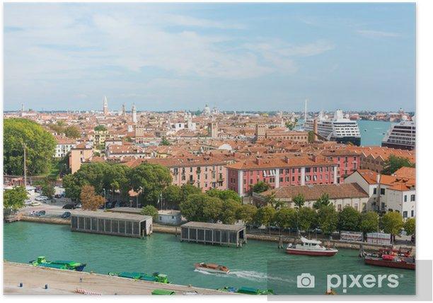 Plakát S výhledem na benátské námořní přístav - Město