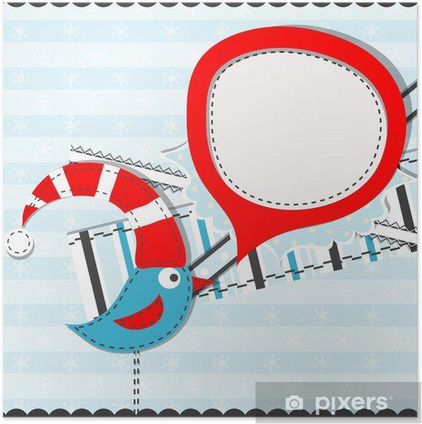 Plakát Šablona vánoční přání, vektor - Mezinárodní svátky