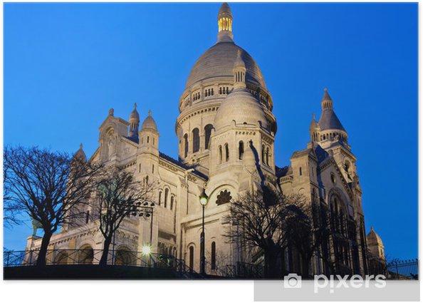 Plakat Sacre Coeur o zmierzchu - Miasta europejskie