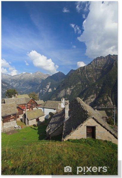 Plakát Salecchio .... Horní Údolí Antigorio - Prázdniny