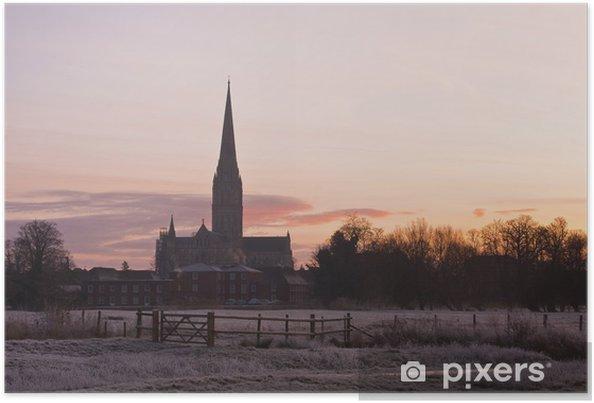 Plakát Salisbury Cathedral. - Evropa