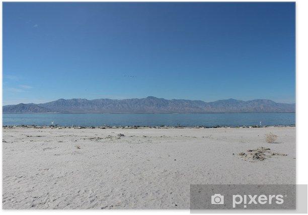 Plakat Salton Sea california krajobraz - Ameryka