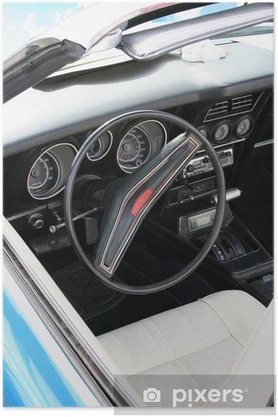 Plakat Samochód retro - Transport drogowy