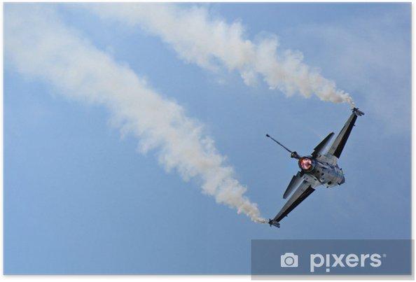 Plakat Samolot mysliwiec - Transport powietrzny