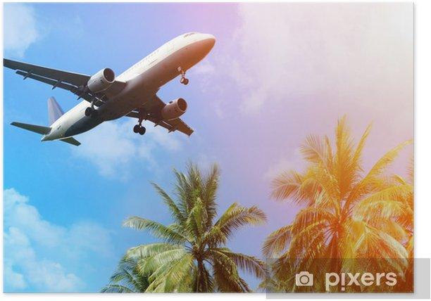 Plakat Samolot nad chmurami - Transport powietrzny