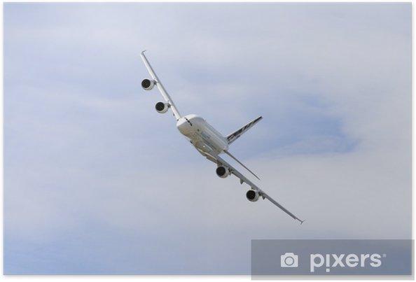 Plakat Samolot pasażerski Airbus w locie 380 - Tematy