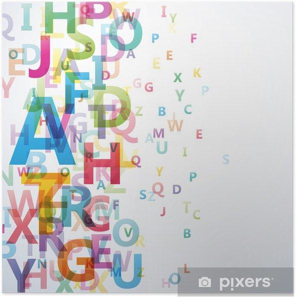 Plakat samoprzylepny Abstract Alphabet Kolor na białym tle # Vector - Przeznaczenia