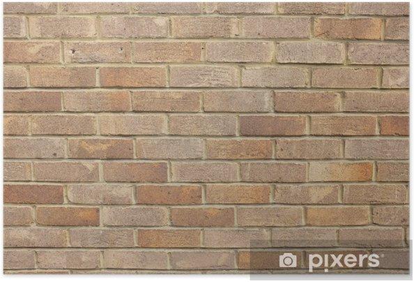 Plakat samoprzylepny Ceglany mur w tle - iStaging