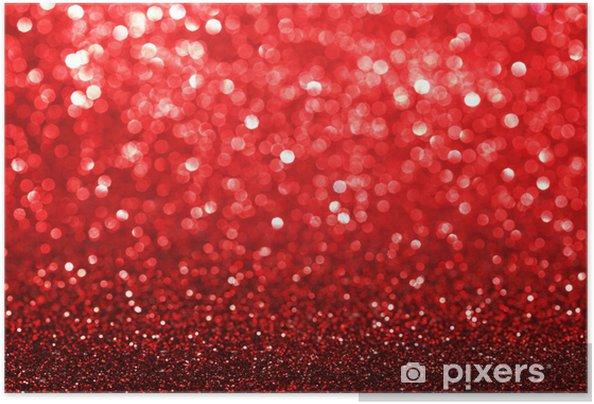 Plakat samoprzylepny Czerwone tło brokat - Święta międzynarodowe