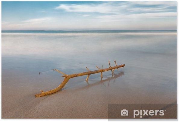 Plakat samoprzylepny Długa ekspozycja na plaży - Krajobrazy