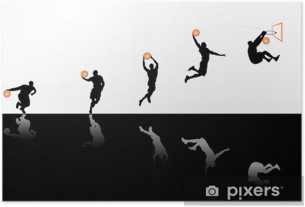 Plakat samoprzylepny Gra w koszykówkę - Koszykówka