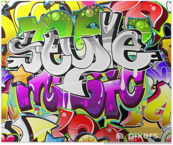 Plakat samoprzylepny Graffiti Urban Art tle. powtarzalne projekt - Tematy