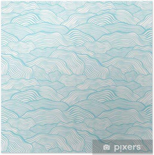 Plakat samoprzylepny Jednolite wzór ze skalą faliste tekstury - Krajobrazy