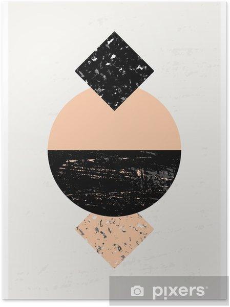 Plakat samoprzylepny Kompozycja abstrakcyjna geometrycznej - Zasoby graficzne