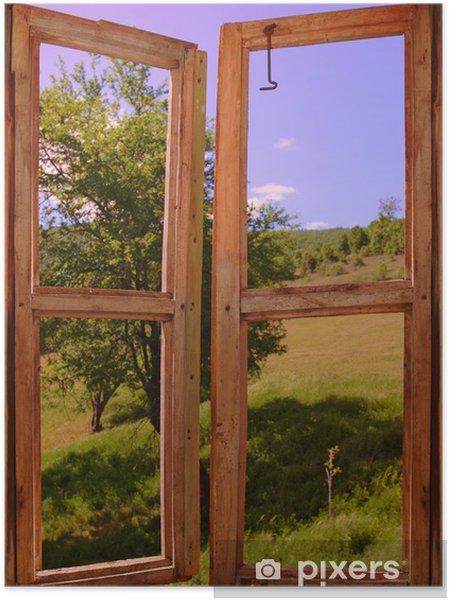 Plakat samoprzylepny Krajobraz, widok przez okno - Tematy