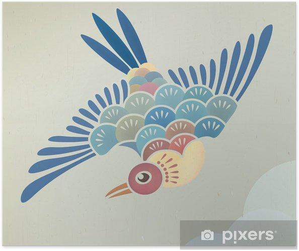 Plakat samoprzylepny Latający - Ptaki