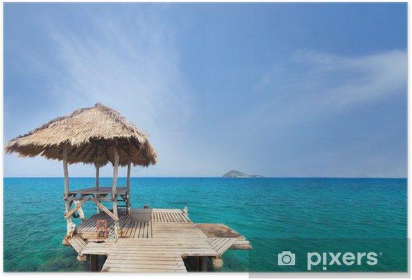 Plakat samoprzylepny Letnie wakacje, rajski cel podróży - Hobby i rozrywka
