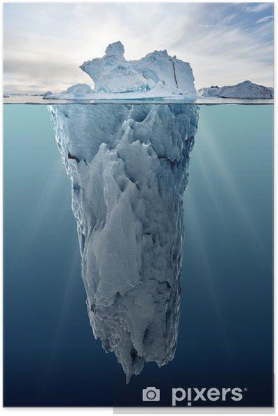 Plakat samoprzylepny Lodowa z widokiem podwodnego - Krajobrazy