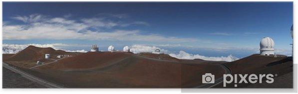 Plakat samoprzylepny Mauna Kea na obserwatoria (MKO) - Big Island, Hawaje - Przestrzeń kosmiczna
