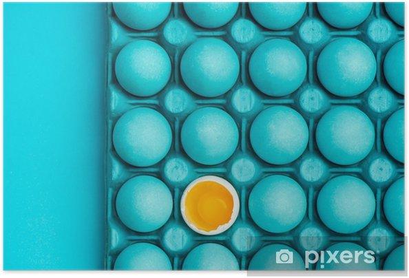 Plakat samoprzylepny Minimalny projekt graficzny z jajami - Zasoby graficzne