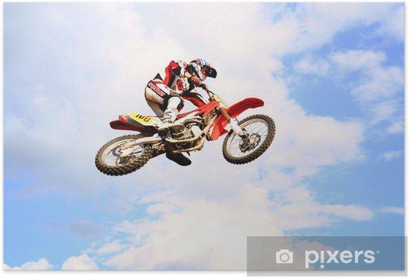 Plakat samoprzylepny Motocross w niebie - Sporty ekstremalne