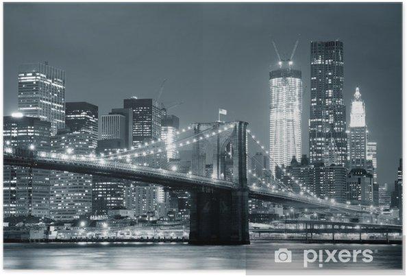 Plakat samoprzylepny New York City Brooklyn Bridge -