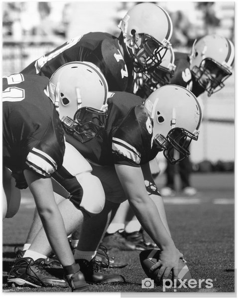 Plakat samoprzylepny Offensive linemen, futbol amerykański - Football amerykański