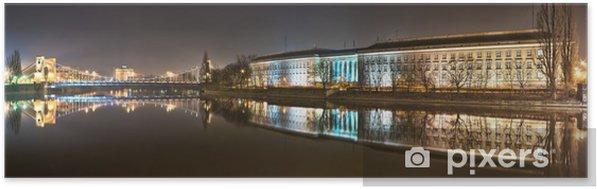 Plakat samoprzylepny Panorama z Mostu Grunwaldzkiego we Wrocławiu - Tematy