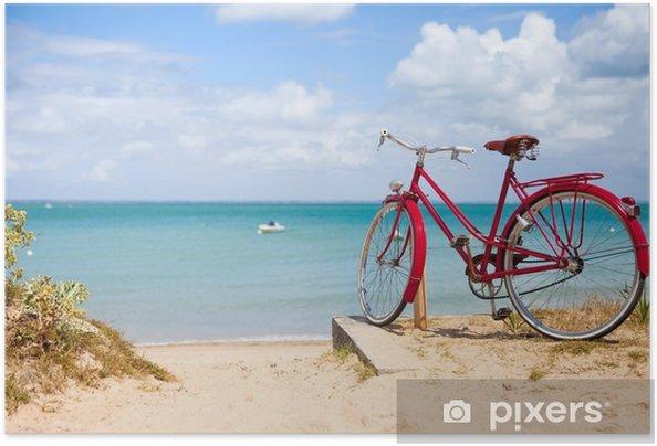 Plakat samoprzylepny Paysage de bretagne, vélo en bord de mer. - Krajobrazy