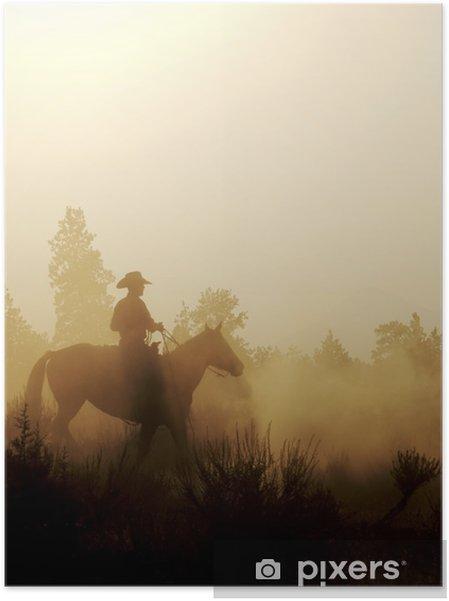 Plakat samoprzylepny Peaceful Cowboy - Ssaki