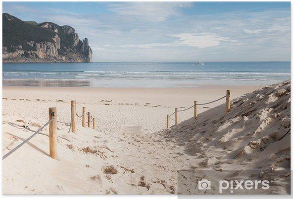 Plakat samoprzylepny Playa de Laredo, España 02 - Wakacje
