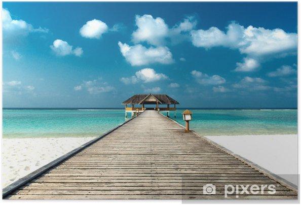 Plakat samoprzylepny Plaża z doku - Morze i ocean