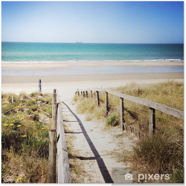 Plakat samoprzylepny Plaża - Tematy