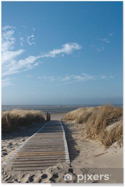 Plakat samoprzylepny Plaże Morza Północnego na Langeoog -