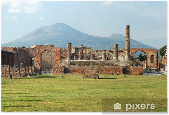 Plakat samoprzylepny Pompeje i Wezuwiusz - Europa