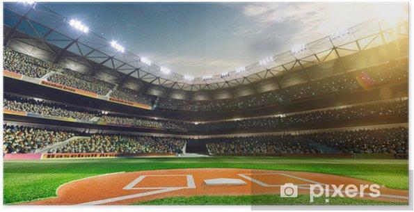 Plakat samoprzylepny Profesjonalne baseball Grand Arena w słońcu - iStaging