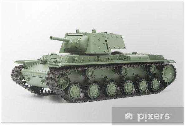 Plakat samoprzylepny Rosyjski czołg KV-1 wyizolowanych na białym - Tematy