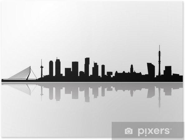 Plakat samoprzylepny Rotterdam city skyline wektor - Naklejki na ścianę