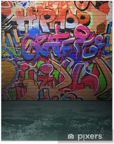 Plakat samoprzylepny Ściany graffiti urban street art painting - Przeznaczenia