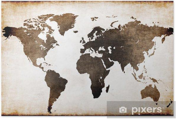 Plakat samoprzylepny Stara mapa świata - Tematy