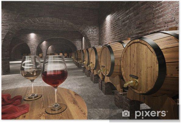 Plakat samoprzylepny Starożytny winiarnia - Wino