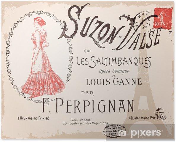 Plakat samoprzylepny Suzon Valse - Tła