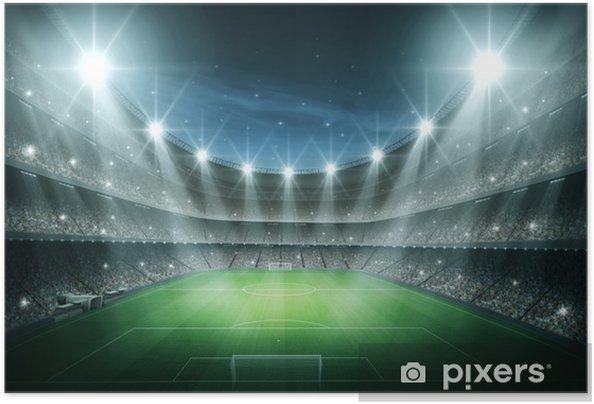 Plakat samoprzylepny Światło Stadium - Football amerykański