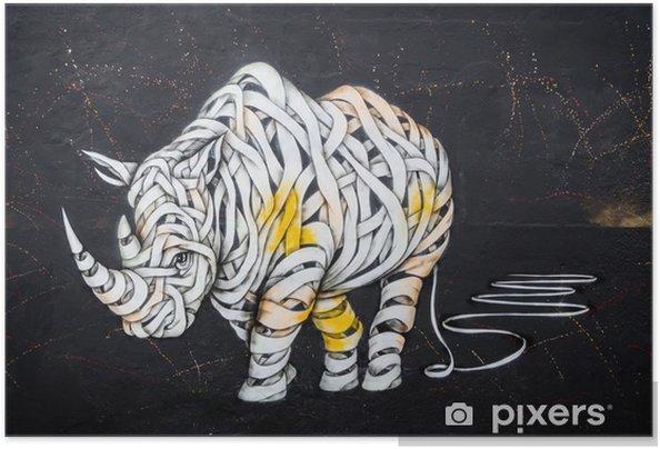 Plakat samoprzylepny Tag nosorożca - Hobby i rozrywka